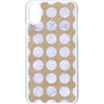 CIRCLES1 WHITE MARBLE & SAND Apple iPhone X Seamless Case (White) Front