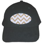 CHEVRON9 WHITE MARBLE & SAND (R) Black Cap
