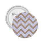 CHEVRON9 WHITE MARBLE & SAND (R) 2.25  Buttons