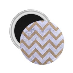 CHEVRON9 WHITE MARBLE & SAND (R) 2.25  Magnets