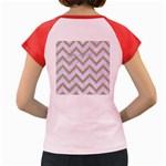 CHEVRON9 WHITE MARBLE & SAND (R) Women s Cap Sleeve T-Shirt Back