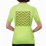 CHEVRON9 WHITE MARBLE & SAND (R) Women s Green T-Shirt Back