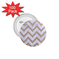 Chevron9 White Marble & Sand (r) 1 75  Buttons (100 Pack)