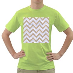 CHEVRON9 WHITE MARBLE & SAND (R) Green T-Shirt