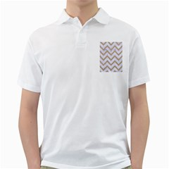 CHEVRON9 WHITE MARBLE & SAND (R) Golf Shirts