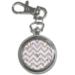 CHEVRON9 WHITE MARBLE & SAND (R) Key Chain Watches