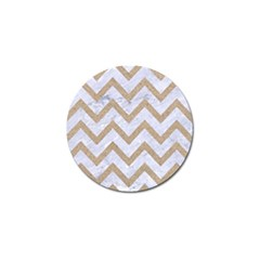 CHEVRON9 WHITE MARBLE & SAND (R) Golf Ball Marker