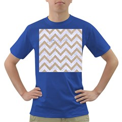 CHEVRON9 WHITE MARBLE & SAND (R) Dark T-Shirt