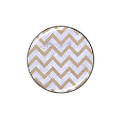 CHEVRON9 WHITE MARBLE & SAND (R) Hat Clip Ball Marker (4 pack)