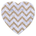CHEVRON9 WHITE MARBLE & SAND (R) Jigsaw Puzzle (Heart) Front