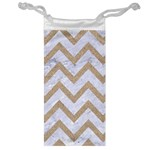 CHEVRON9 WHITE MARBLE & SAND (R) Jewelry Bag Front