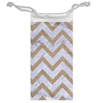 CHEVRON9 WHITE MARBLE & SAND (R) Jewelry Bag Back