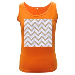 CHEVRON9 WHITE MARBLE & SAND (R) Women s Dark Tank Top