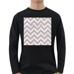 CHEVRON9 WHITE MARBLE & SAND (R) Long Sleeve Dark T-Shirts