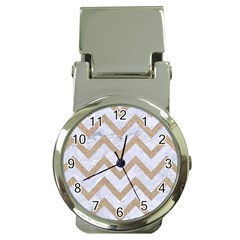 CHEVRON9 WHITE MARBLE & SAND (R) Money Clip Watches