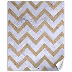 CHEVRON9 WHITE MARBLE & SAND (R) Canvas 16  x 20