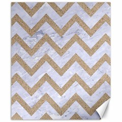 CHEVRON9 WHITE MARBLE & SAND (R) Canvas 20  x 24
