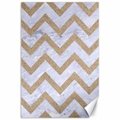 CHEVRON9 WHITE MARBLE & SAND (R) Canvas 24  x 36