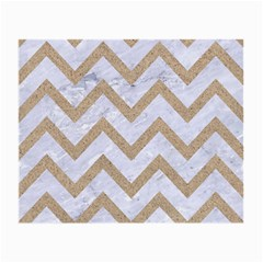 CHEVRON9 WHITE MARBLE & SAND (R) Small Glasses Cloth (2-Side)