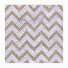 CHEVRON9 WHITE MARBLE & SAND (R) Medium Glasses Cloth