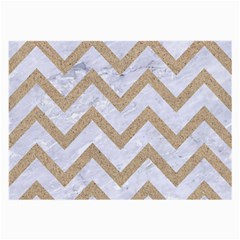 CHEVRON9 WHITE MARBLE & SAND (R) Large Glasses Cloth