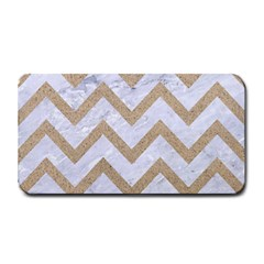 CHEVRON9 WHITE MARBLE & SAND (R) Medium Bar Mats