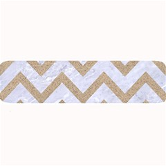 CHEVRON9 WHITE MARBLE & SAND (R) Large Bar Mats