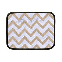 CHEVRON9 WHITE MARBLE & SAND (R) Netbook Case (Small)