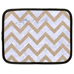CHEVRON9 WHITE MARBLE & SAND (R) Netbook Case (Large)
