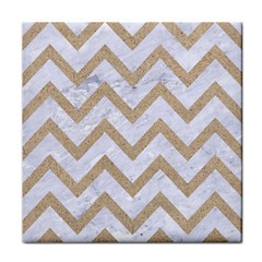 CHEVRON9 WHITE MARBLE & SAND (R) Face Towel