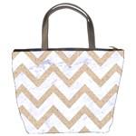 CHEVRON9 WHITE MARBLE & SAND (R) Bucket Bags Back