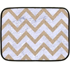 CHEVRON9 WHITE MARBLE & SAND (R) Fleece Blanket (Mini)