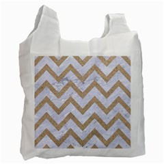 CHEVRON9 WHITE MARBLE & SAND (R) Recycle Bag (One Side)