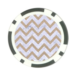 CHEVRON9 WHITE MARBLE & SAND (R) Poker Chip Card Guard (10 pack)