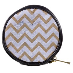 CHEVRON9 WHITE MARBLE & SAND (R) Mini Makeup Bags