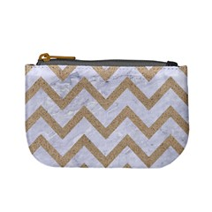 CHEVRON9 WHITE MARBLE & SAND (R) Mini Coin Purses