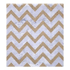CHEVRON9 WHITE MARBLE & SAND (R) Shower Curtain 66  x 72  (Large)
