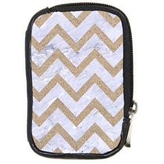 CHEVRON9 WHITE MARBLE & SAND (R) Compact Camera Cases