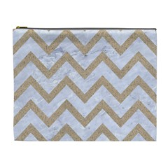 CHEVRON9 WHITE MARBLE & SAND (R) Cosmetic Bag (XL)