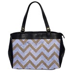 CHEVRON9 WHITE MARBLE & SAND (R) Office Handbags Front