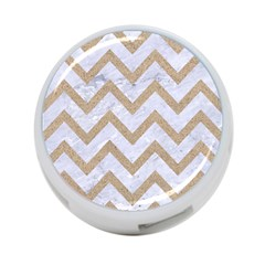 CHEVRON9 WHITE MARBLE & SAND (R) 4-Port USB Hub (One Side)