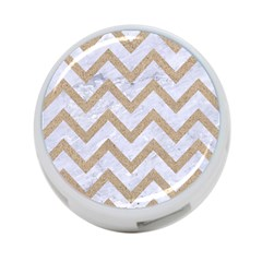 CHEVRON9 WHITE MARBLE & SAND (R) 4-Port USB Hub (Two Sides)