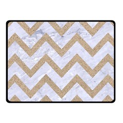 CHEVRON9 WHITE MARBLE & SAND (R) Fleece Blanket (Small)