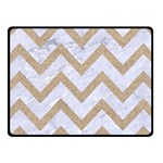 CHEVRON9 WHITE MARBLE & SAND (R) Fleece Blanket (Small) 50 x40 Blanket Front