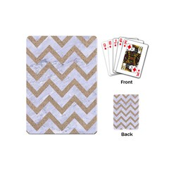 CHEVRON9 WHITE MARBLE & SAND (R) Playing Cards (Mini)
