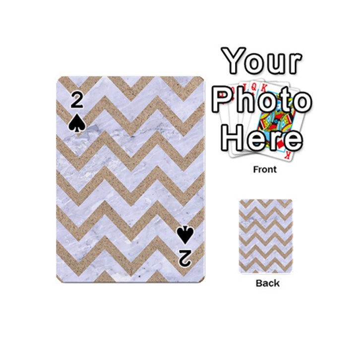 CHEVRON9 WHITE MARBLE & SAND (R) Playing Cards 54 (Mini)