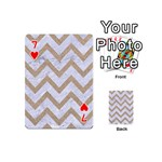 CHEVRON9 WHITE MARBLE & SAND (R) Playing Cards 54 (Mini)  Front - Heart7