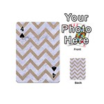 CHEVRON9 WHITE MARBLE & SAND (R) Playing Cards 54 (Mini)  Front - Spade4