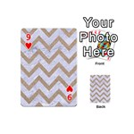 CHEVRON9 WHITE MARBLE & SAND (R) Playing Cards 54 (Mini)  Front - Heart9