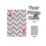 CHEVRON9 WHITE MARBLE & SAND (R) Playing Cards 54 (Mini)  Front - HeartQ